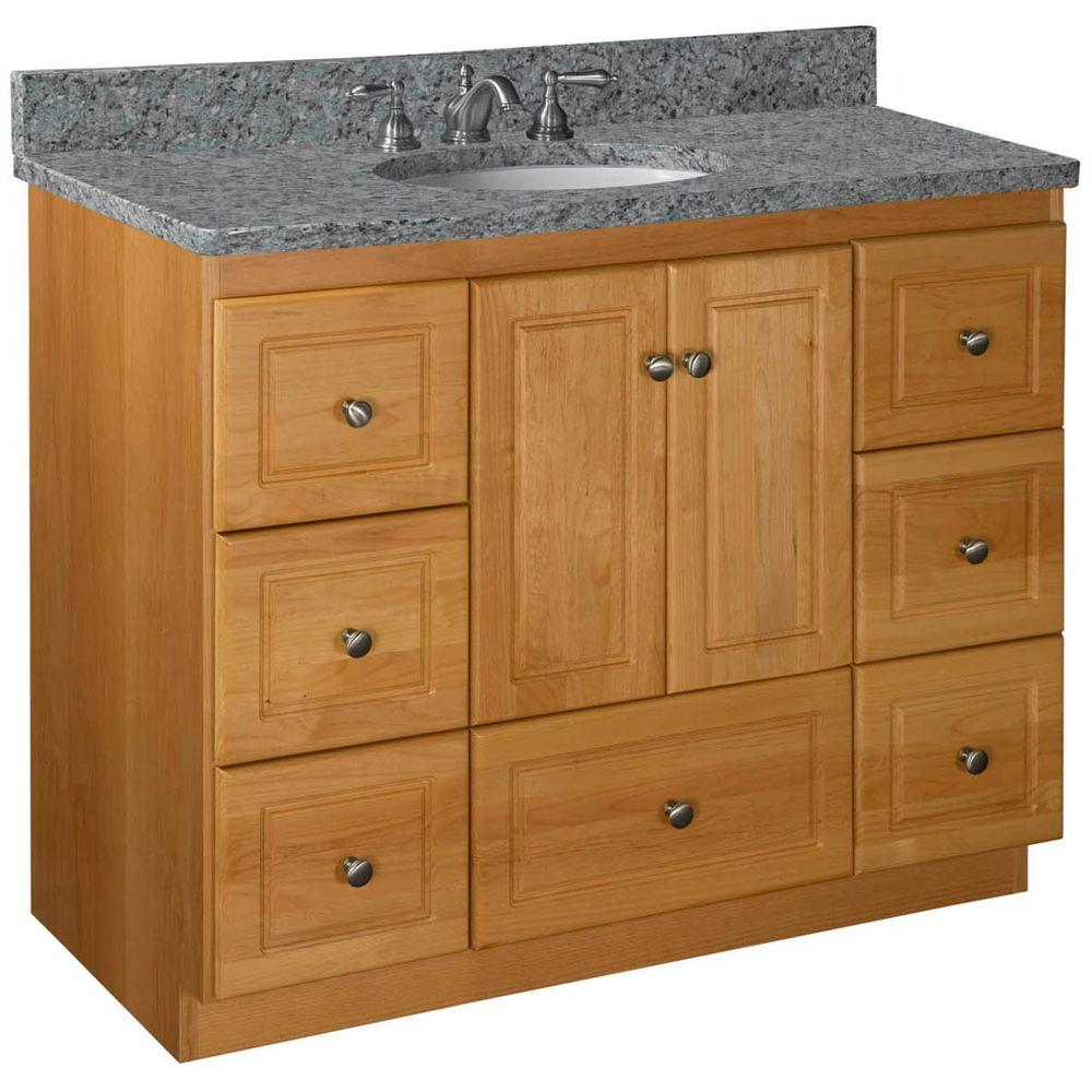 Simplicity by Strasser Ultraline 42 in. W x 21 in. D x 34.5 in. H Vanity Cabinet Only in Natural Alder