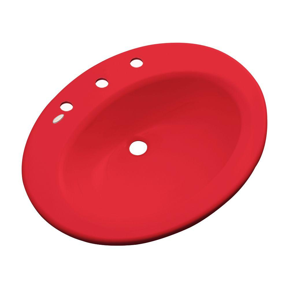 Thermocast Tierra Drop-In Bathroom Sink in Red