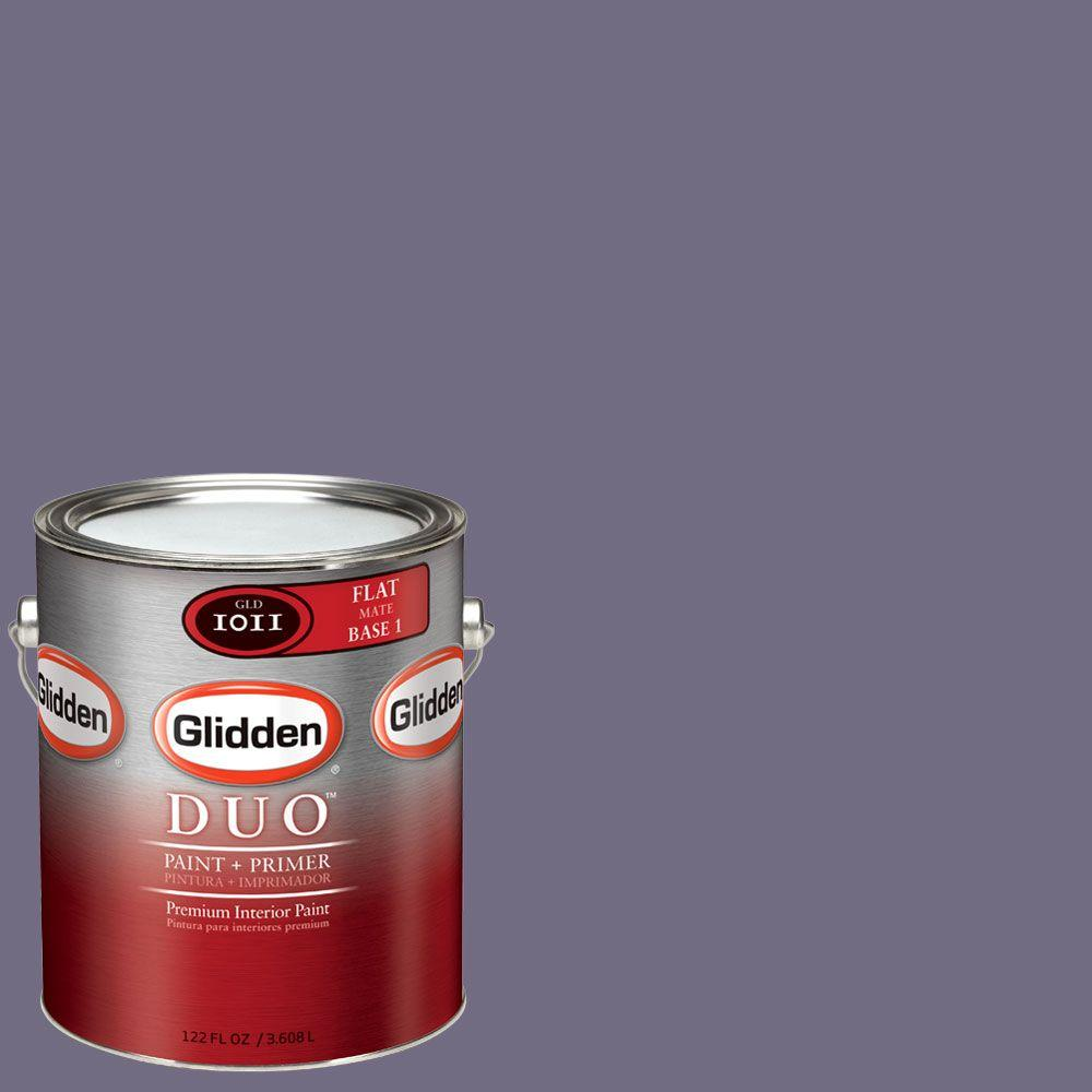 Glidden DUO Martha Stewart Living 1-gal. #MSL192-01F Purple Heliotrope Flat Interior Paint with Primer-DISCONTINUED