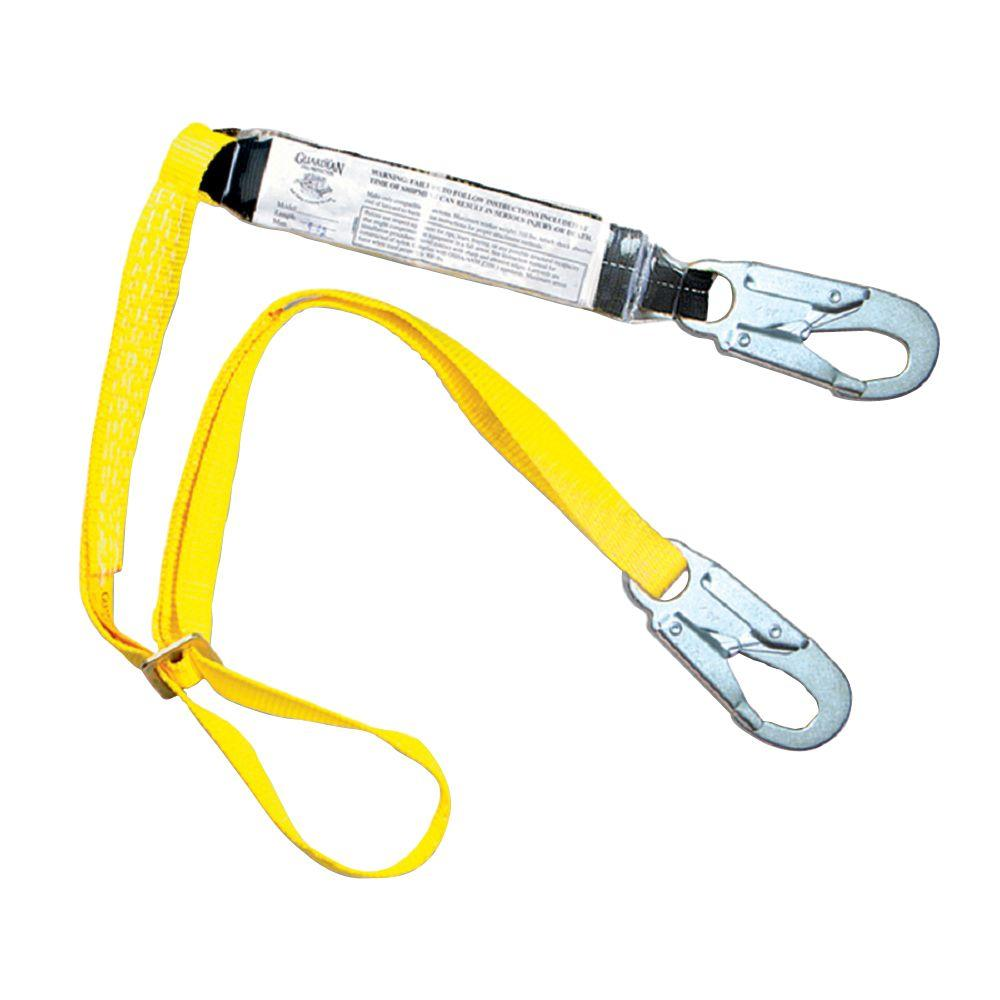 Guardian Fall Protection 4 ft. to 6 ft. Shock Absorbing Adjustable Lanyard