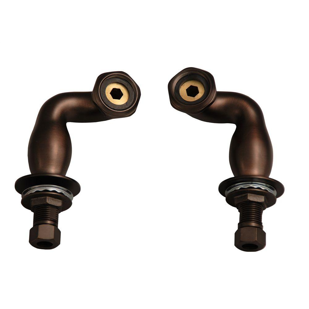 4 in. S-Type Deck Coupler in Oil Rubbed Bronze