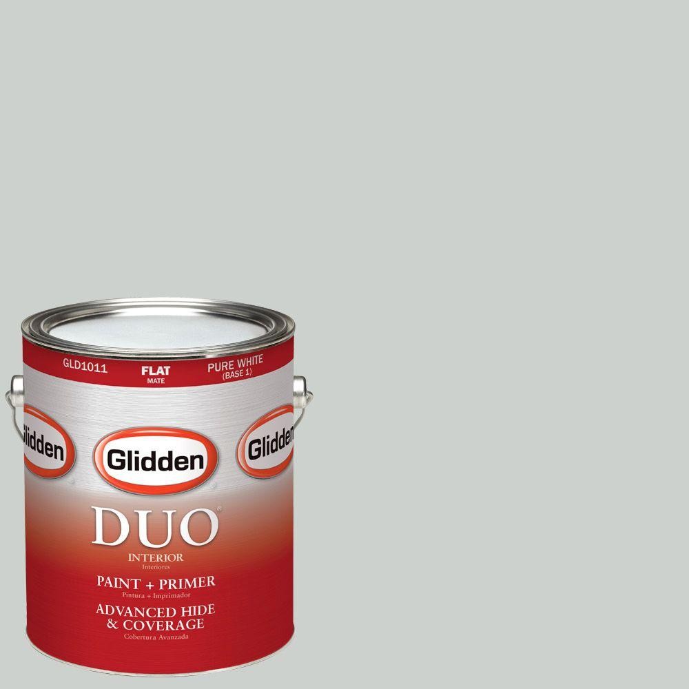 Glidden DUO 1-gal. #HDGCN10 Barely Jade Flat Latex Interior Paint with