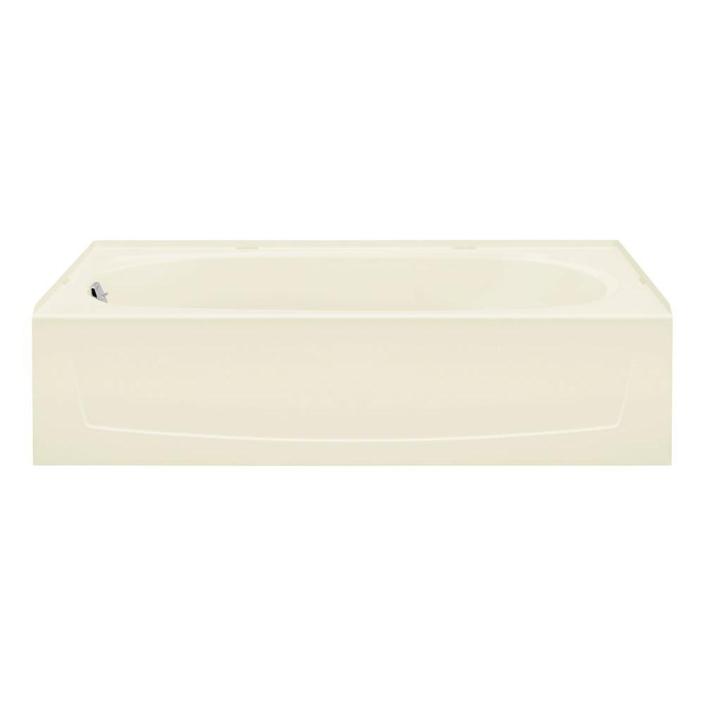 STERLING Performa 5 ft. Left Drain Bathtub in Biscuit