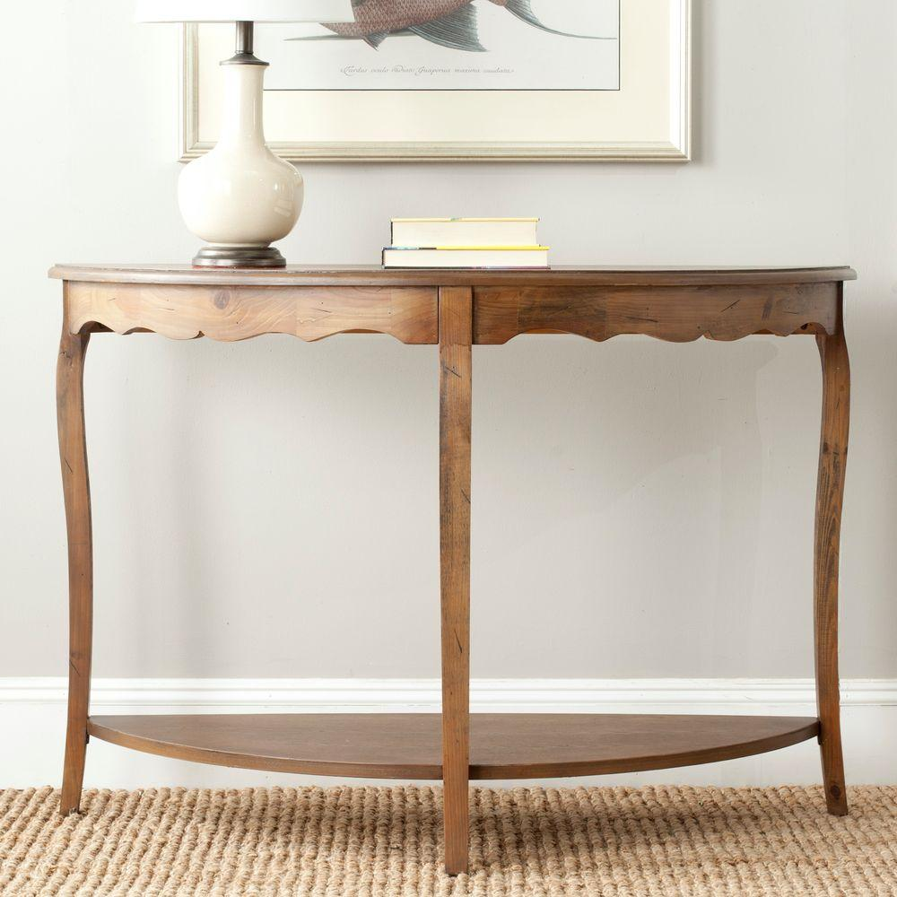 American Home Collection Christina Console Table in Firewood