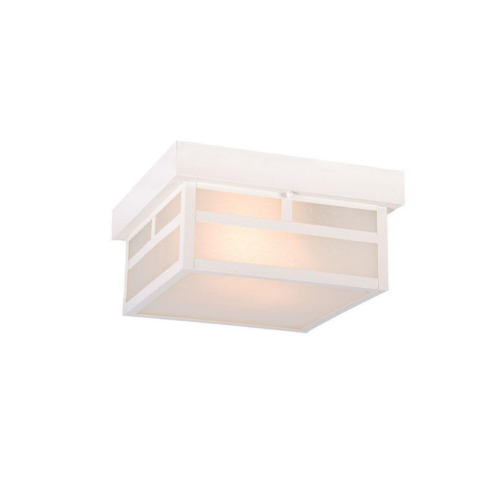 Acclaim Lighting Artisan Collection 1-Light Textured White Outdoor Ceiling-Mount