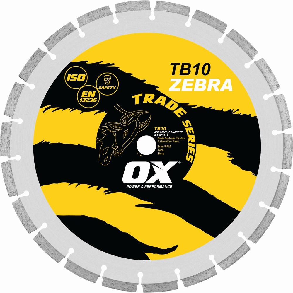 OX Trade Series Abrasive 1 - 20 mm Bore 14 in. Diamond Blade