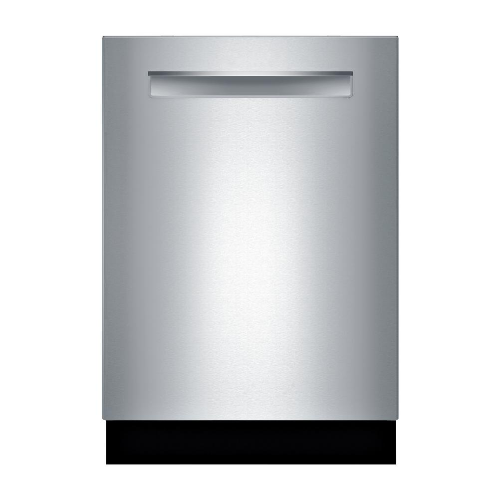 Bosch Bosch 800 Series Top Control Tall Tub Pocket Handle Dishwasher in Stainless Steel with Stainless Steel Tub, 42dBA, Silver