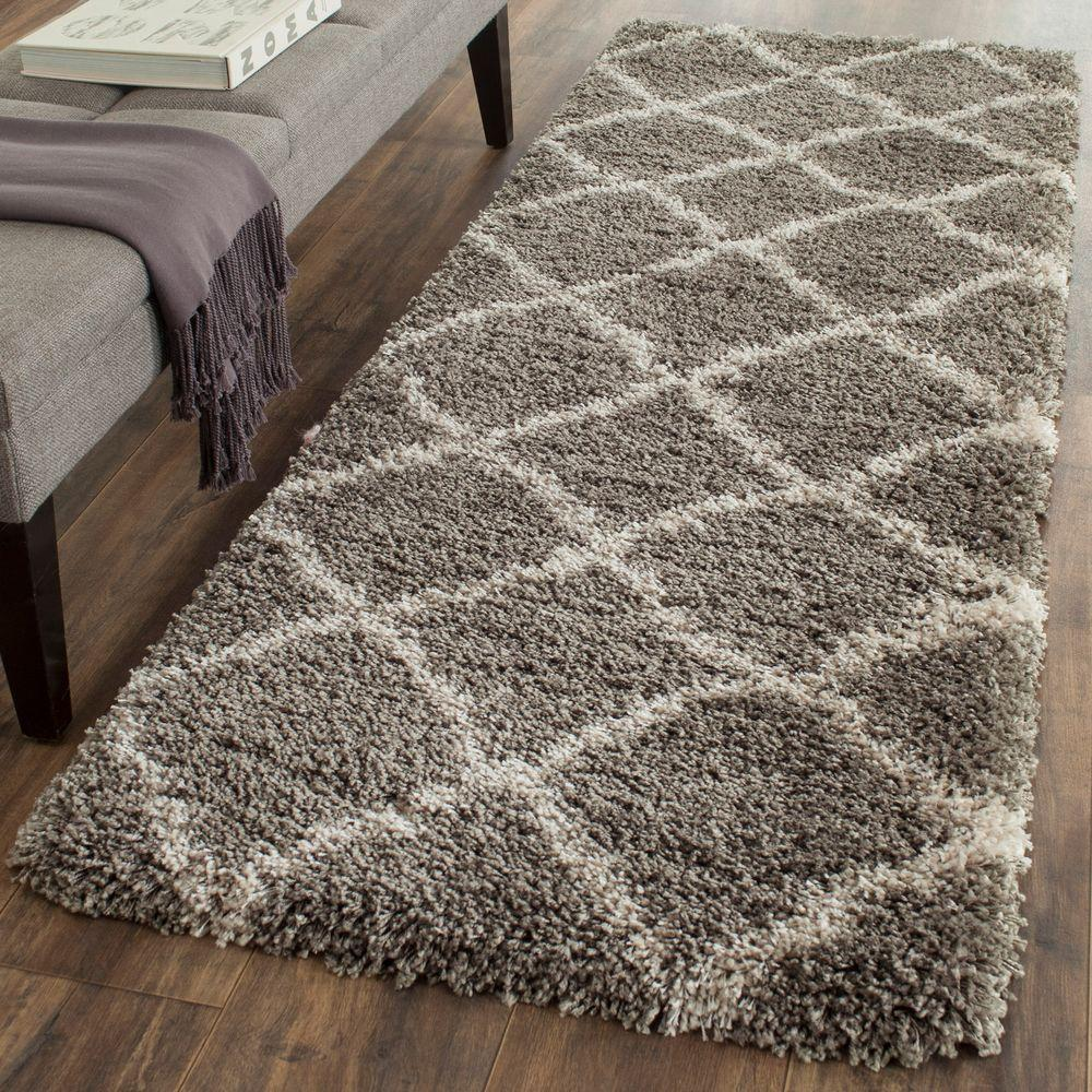 Belize Shag Gray/Taupe 2 ft. 3 in. x 9 ft. Runner