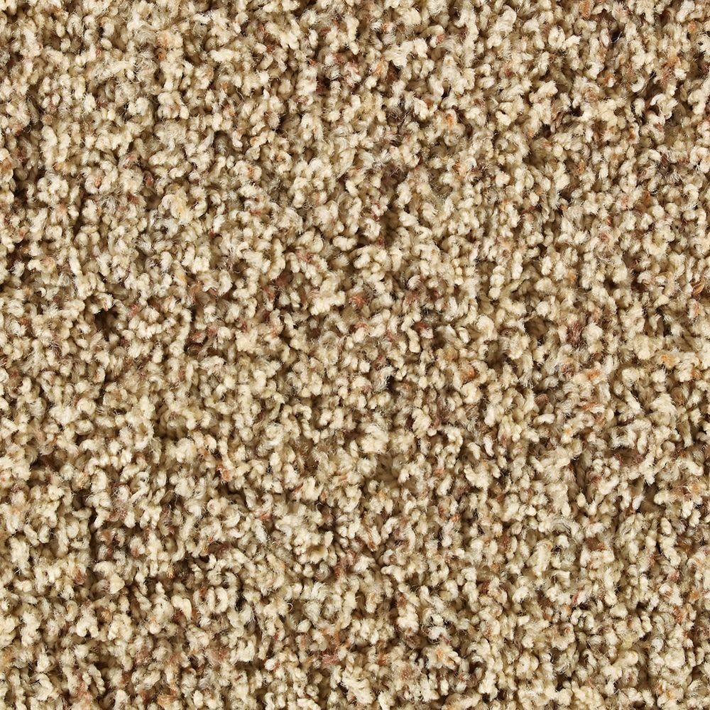 Martha Stewart Living Dumbarton Toasted Marshmallow Berber 6 in. x 9 in. Take Home Sample-DISCONTINUED