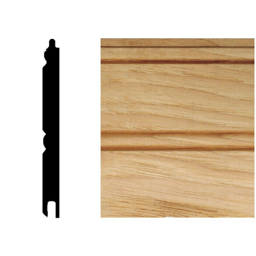 House of Fara 32 in. x 3-1/8 in. x 5/16 in. Hickory Tongue & Groove Wainscot (1-Piece)