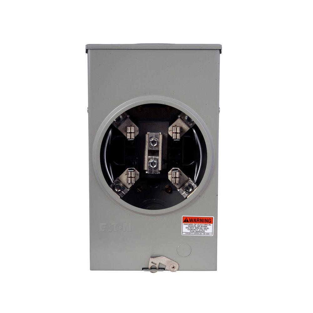 Eaton 200 Amp Single Meter Socket with Barrel Lock Provision-UAFHTRS202BSHCH -