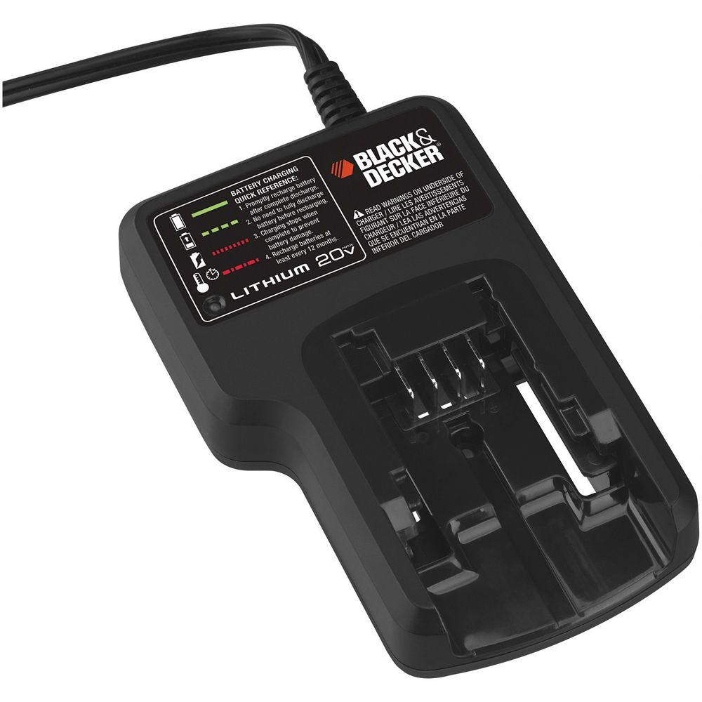 BLACK+DECKER 20-Volt Max Lithium-ion Battery Charger-DISCONTINUED