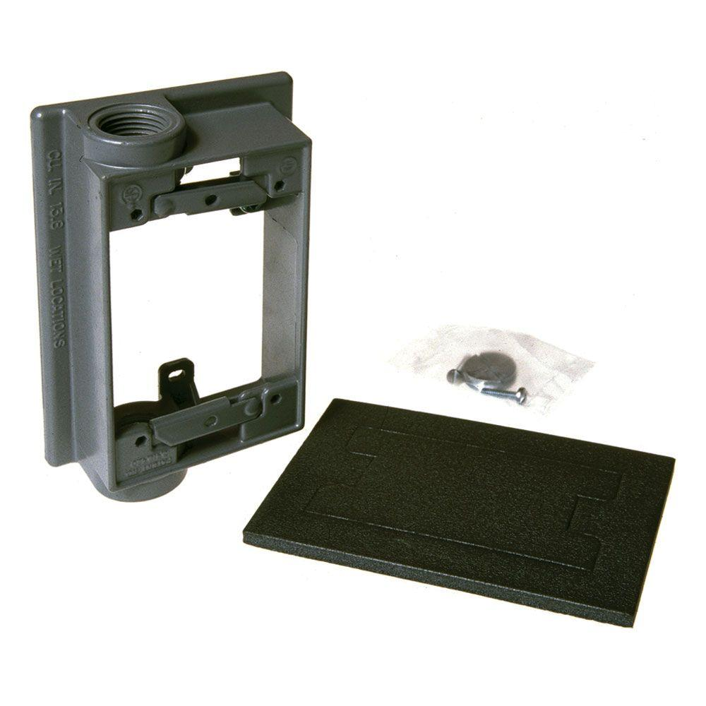 4 4 Weatherproof Electrical Box: Greenfield 4 In. Round Weatherproof Electrical Outlet Box