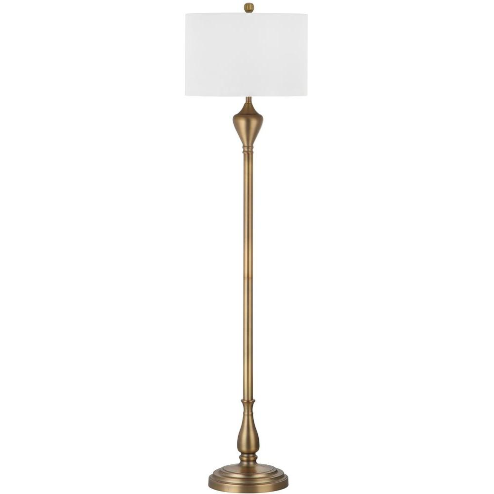 Safavieh Xenia 60.5 in. Gold Floor Lamp-LIT4333A - The Home Depot