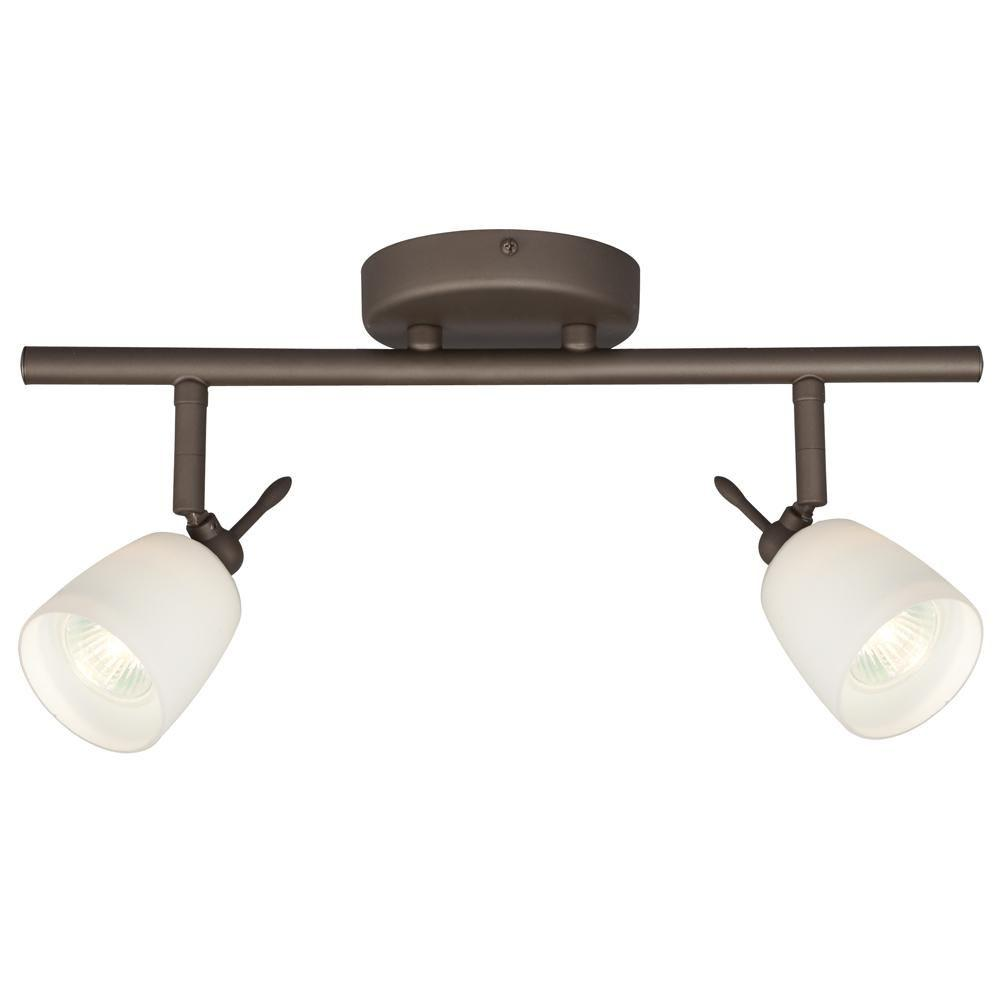 Filament Design Negron 2-Light Oil-Rubbed Bronze Track Lighting with Directional