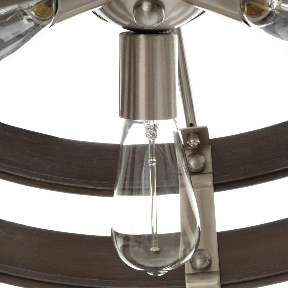 Vintage-inspired bulbs suggested for this lighting fixture