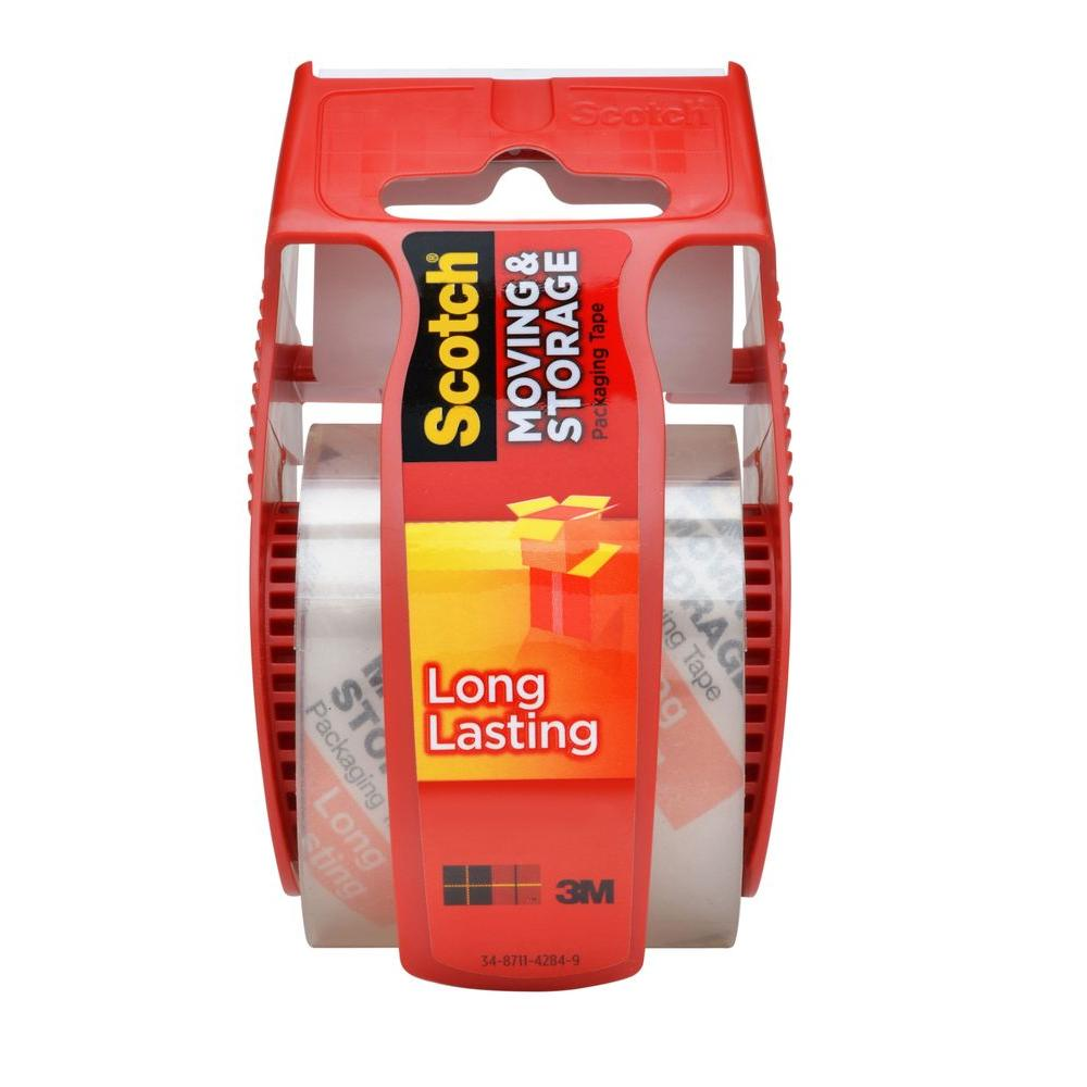 3M Scotch 1.88 in. x 22.2 yds. Long Lasting Moving and Storage Packaging Tape with Dispenser