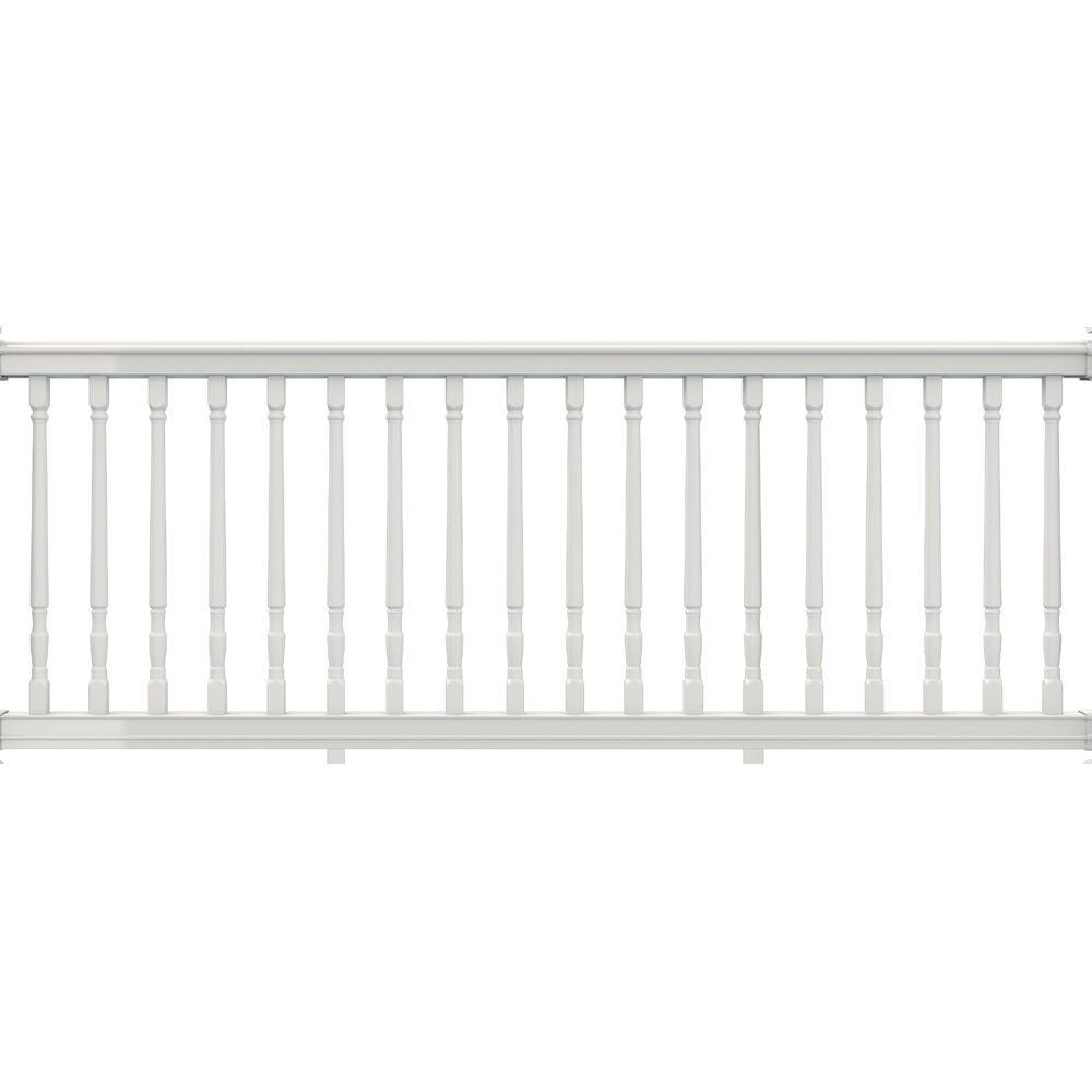 Veranda 7-5/8 ft. x 36 in. White Vinyl Premier Rail with