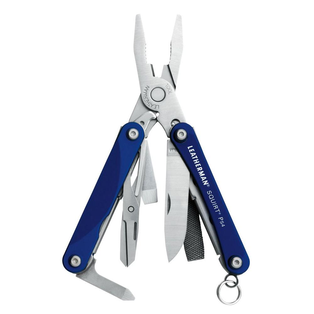 Leatherman Tool Group Squirt Size Blue Multi-Purpose Key Chain Tool with Pliers