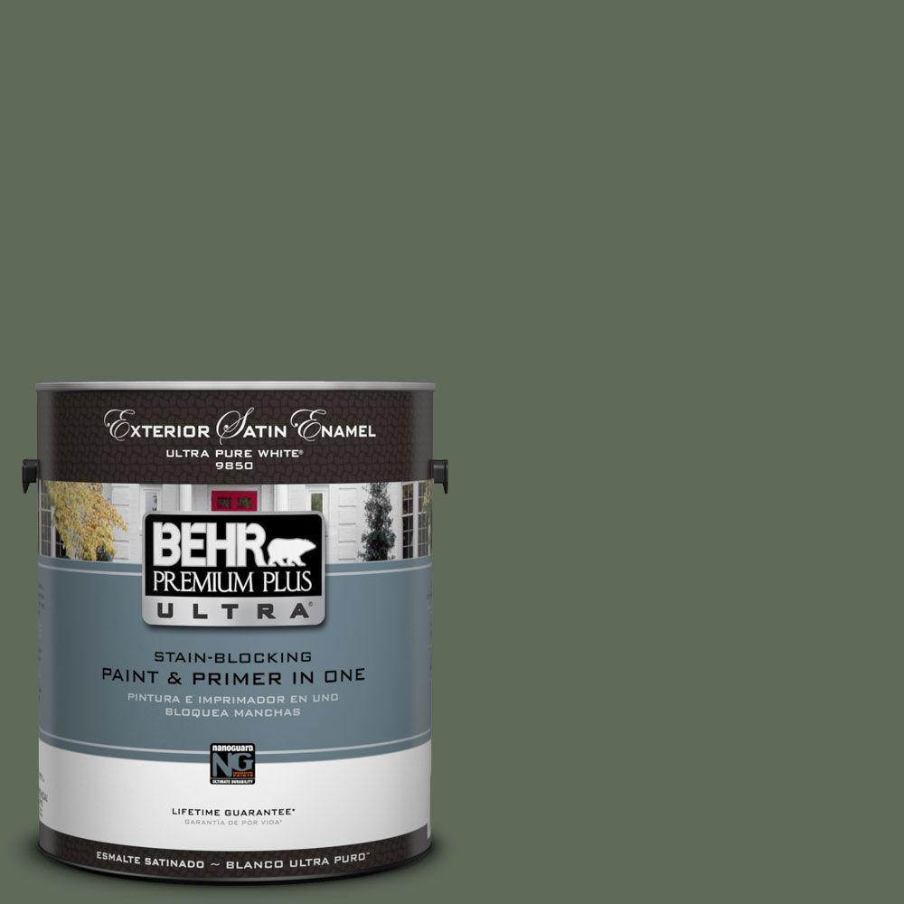 BEHR Premium Plus Ultra 1-Gal. #UL210-2 Royal Orchard Satin Enamel Exterior Paint