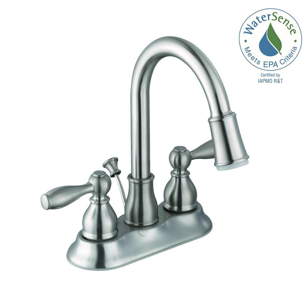 Bathroom Faucet Quit Working glacier bay mandouri 4 in. centerset 2-handle led high-arc