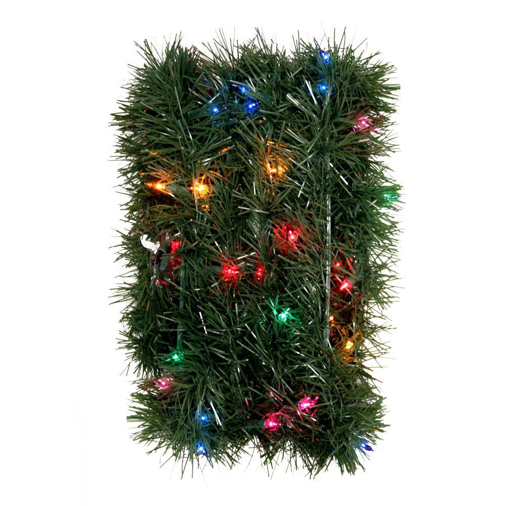 GE 36 ft. Pre-Lit Holiday Classics Garland with Multi-Color Lights