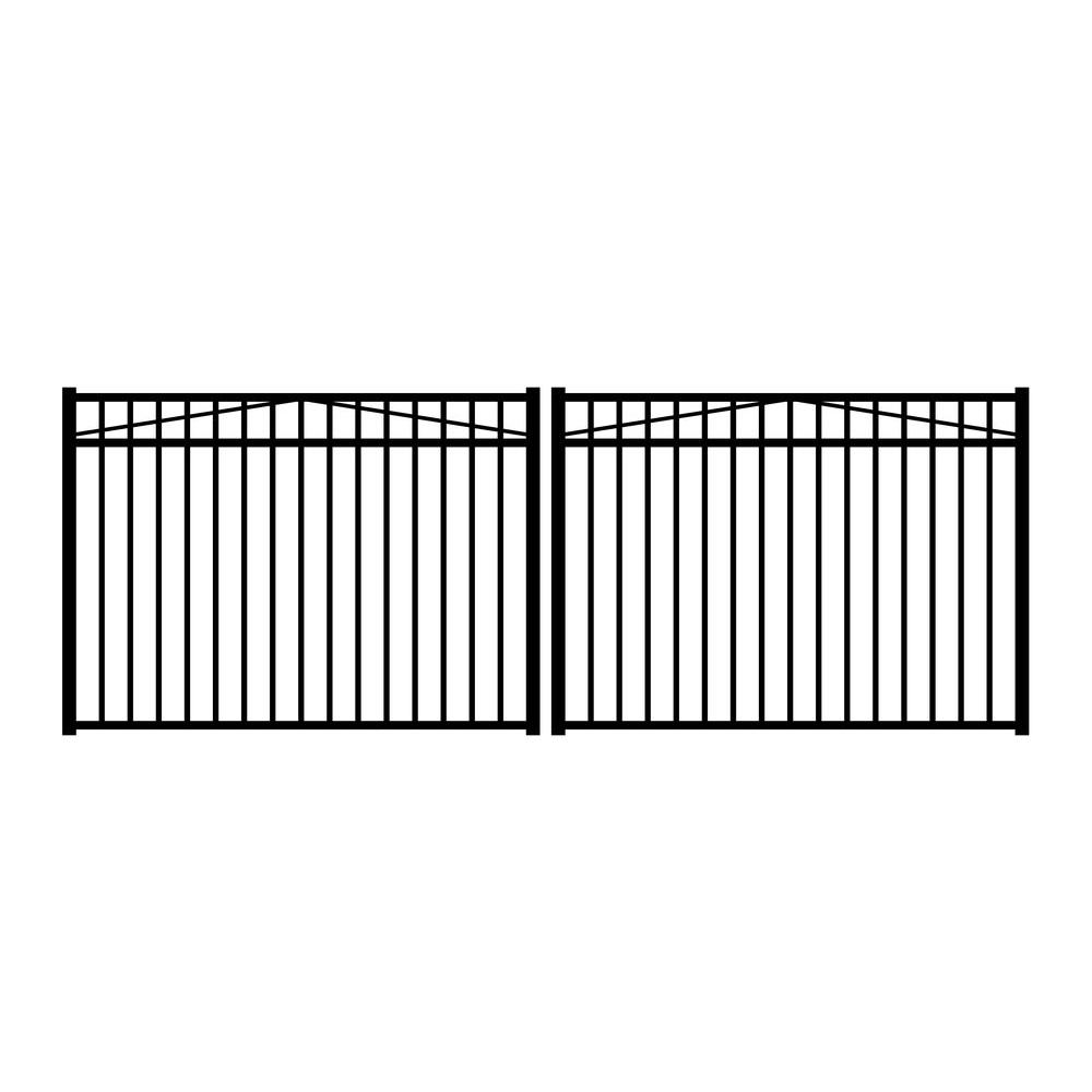 Jerith Jefferson 12 ft. W x 4.5 ft. H Black Aluminum