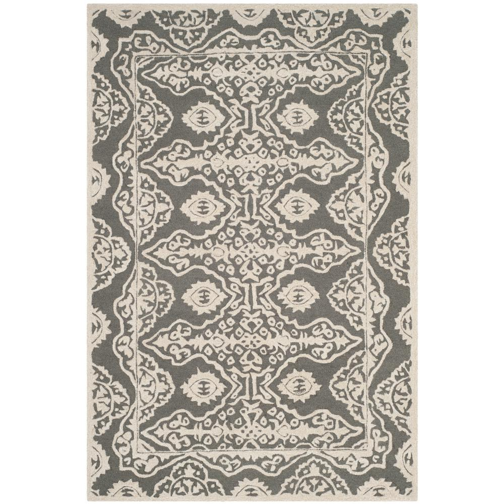 Bella Dark Gray/Ivory 6 ft. x 9 ft. Area Rug