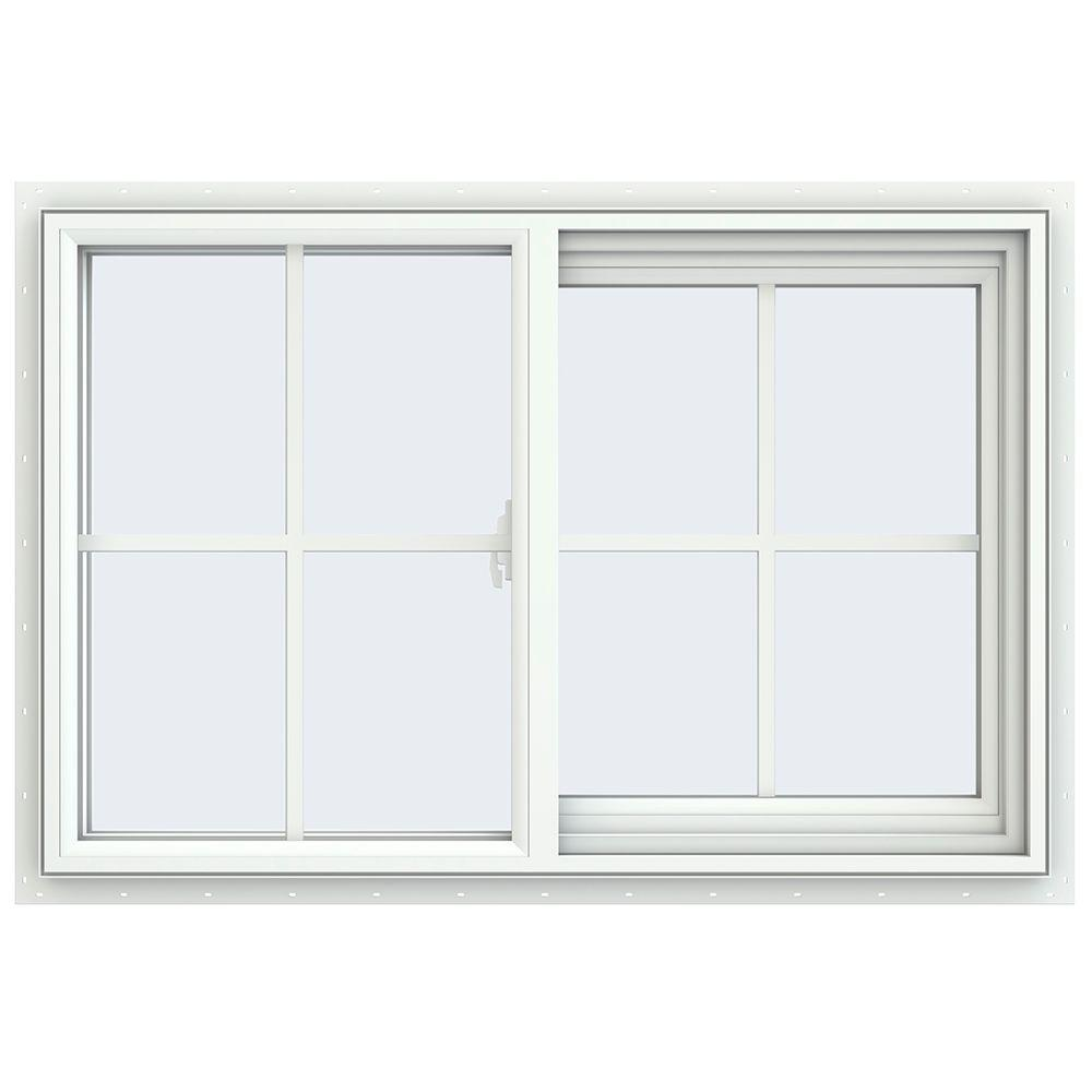 Tafco windows 35 5 in x 23 5 in utility left hand single for Window home depot