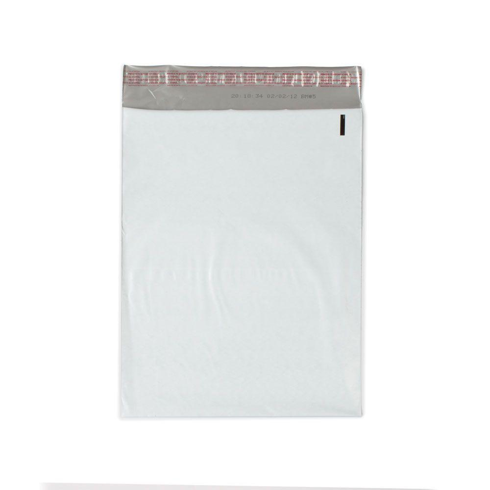 12 in. x 15.5 in. White / Silver Flat Poly Mailers