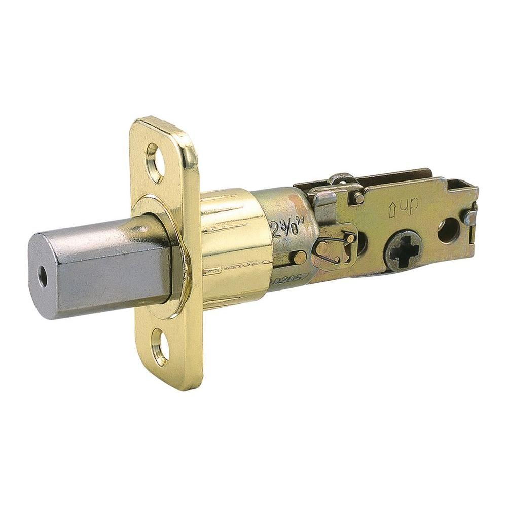 Design House Universal Polished Brass 6-Way Replacement Deadbolt Latch-DISCONTINUED