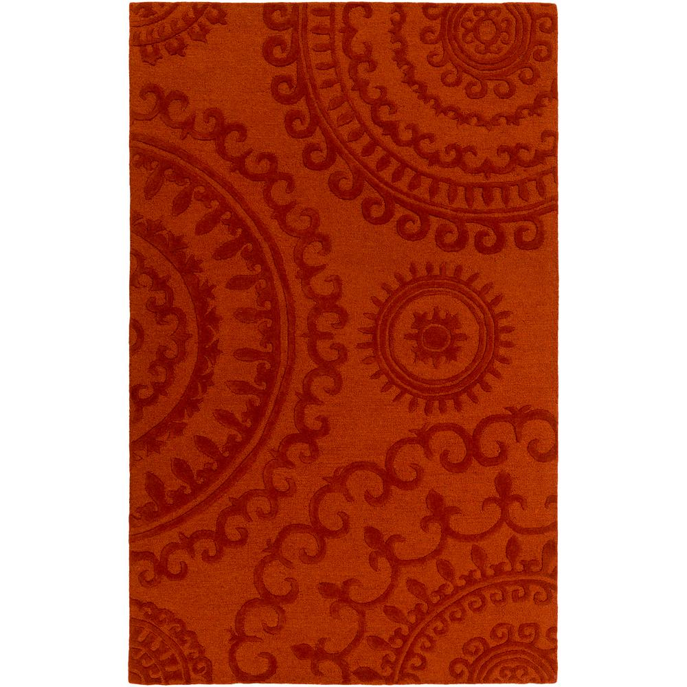 Pollack Sloane Rust 4 ft. x 6 ft. Indoor Area Rug