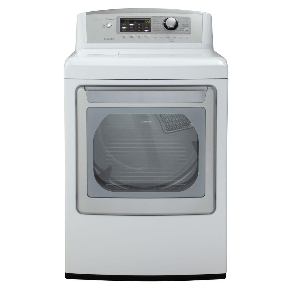 LG Electronics 7.3 cu. ft. Gas Dryer with Steam in White