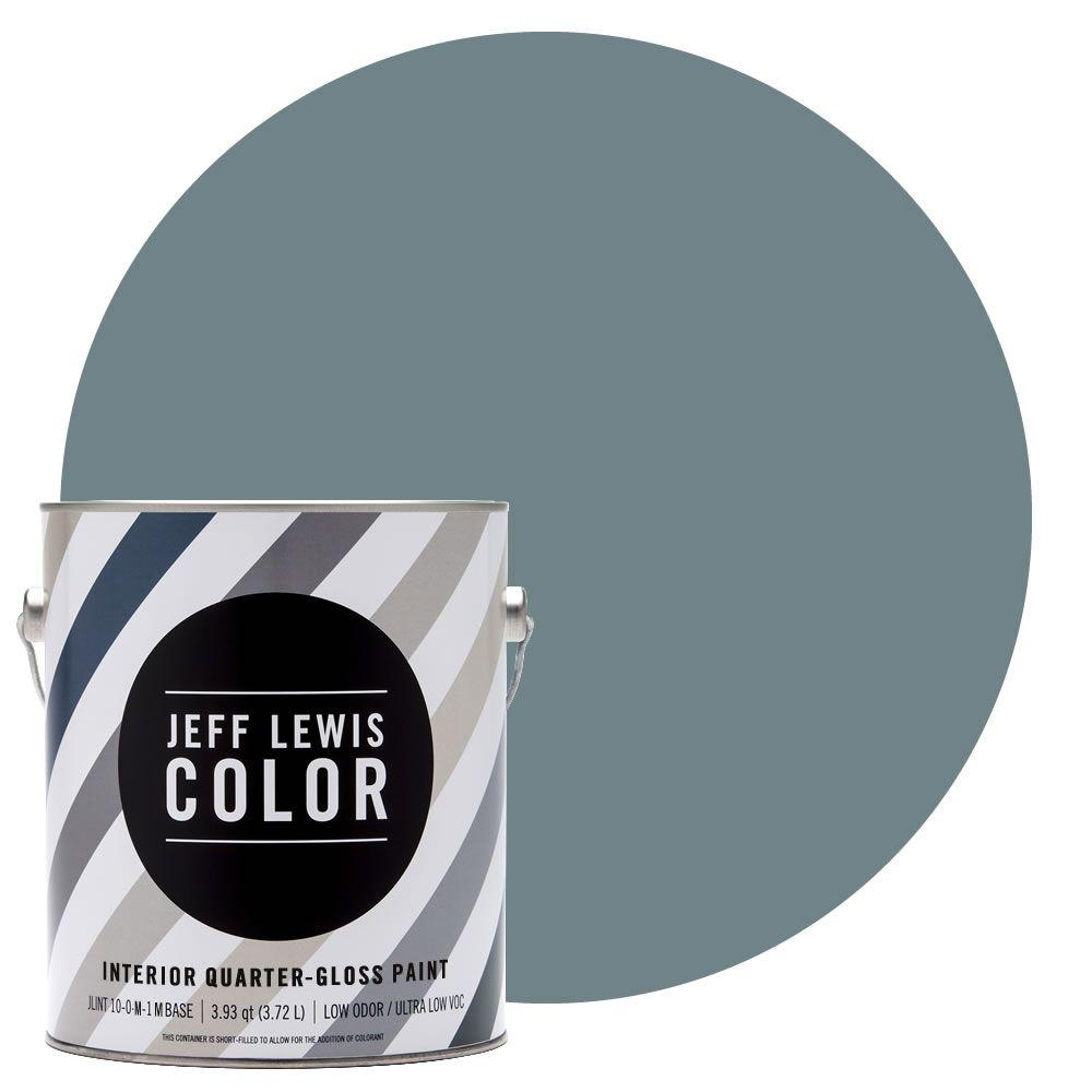 Jeff Lewis Color 1-gal. #JLC313 Skinnydip Quarter-Gloss Ultra-Low VOC Interior Paint
