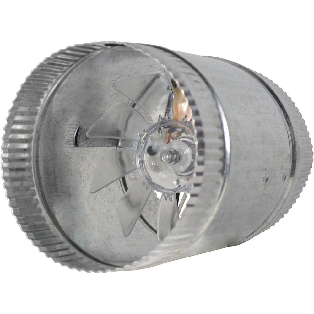 Suncourt Inductor 6 in. Double Crimped In-Line Duct Fan-DB200 - The