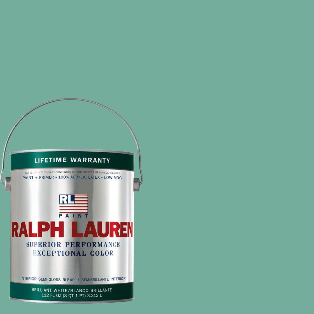 Ralph Lauren 1-gal. Deco Green Semi-Gloss Interior Paint-RL1759S - The Home