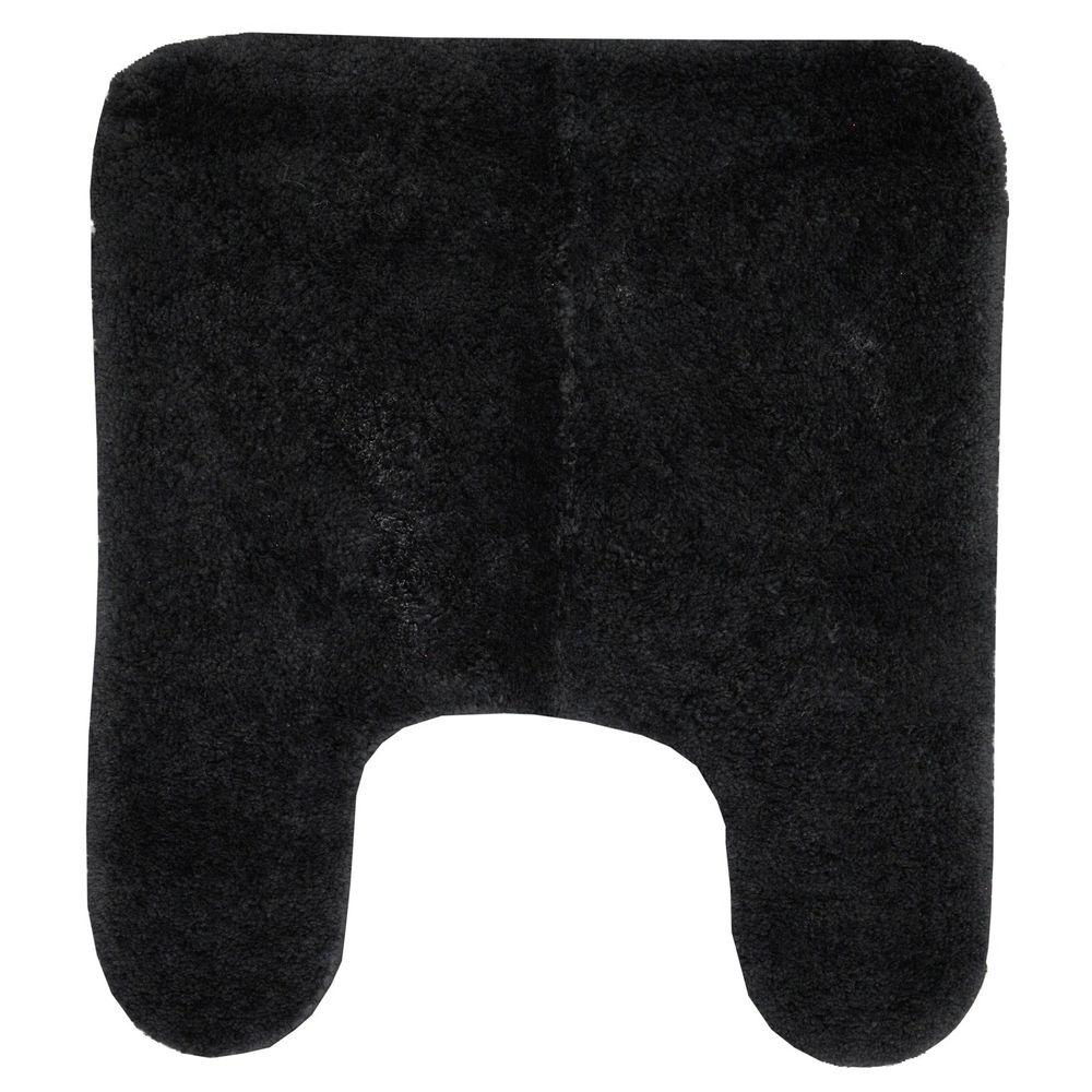 Mohawk Home Lila 21 in. x 24 in. Contour Black Bath Rug-DISCONTINUED