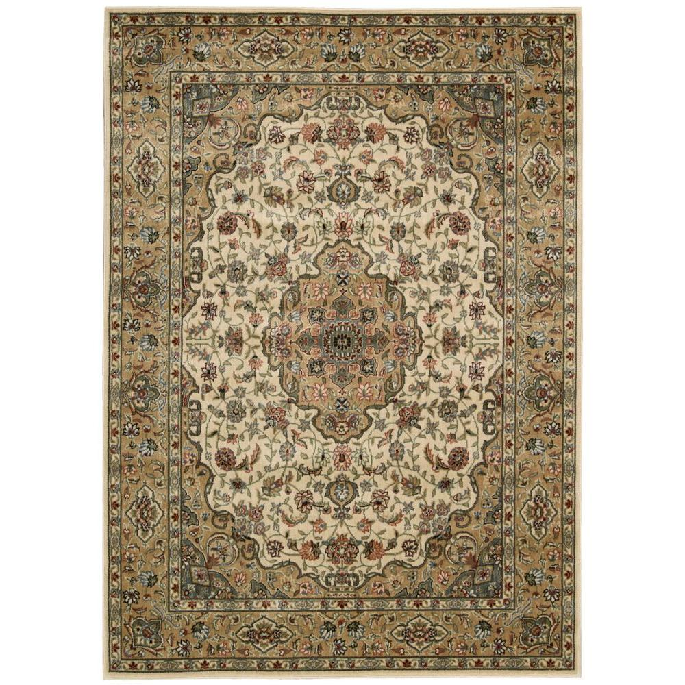 Persian Arts Ivory/Gold 3 ft. 6 in. x 5 ft. 6