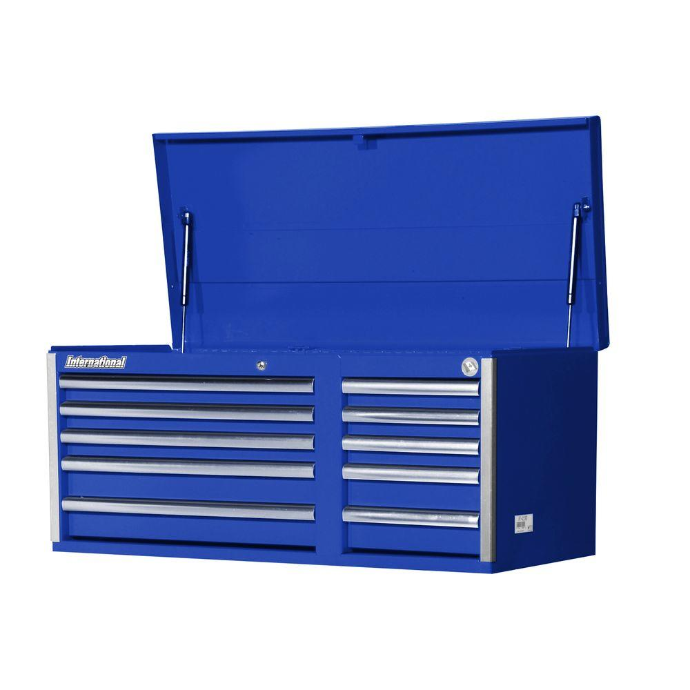 International Tech Series 42 in. 10-Drawer Top Chest, Blue
