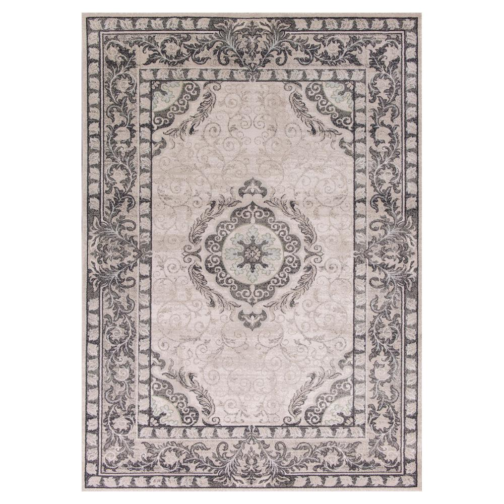 Imperial Medallion Grey 5 ft. 3 in. x 7 ft. 7