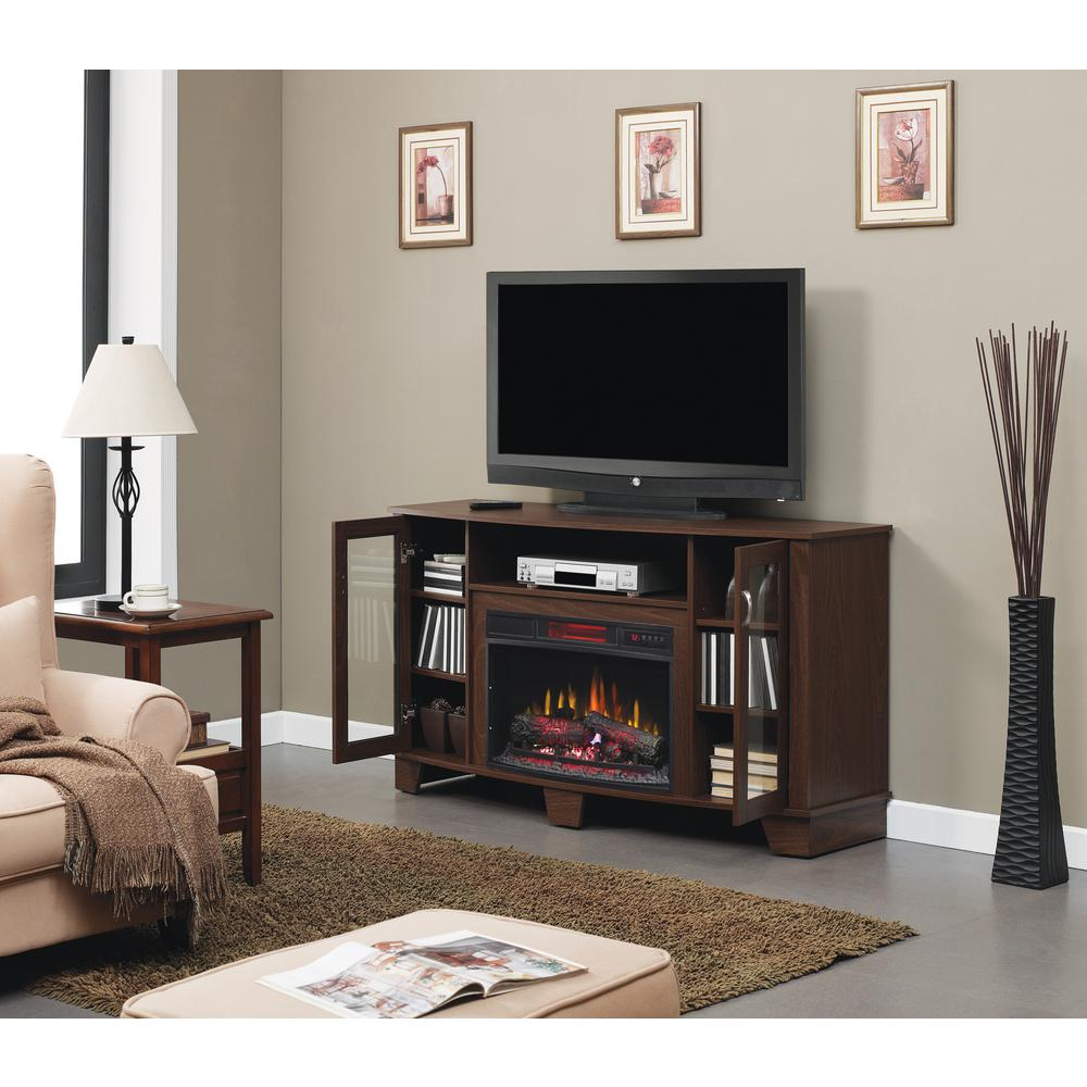 Home Decorators Collection Grand Haven 59 in. Media Console Electric Fireplace