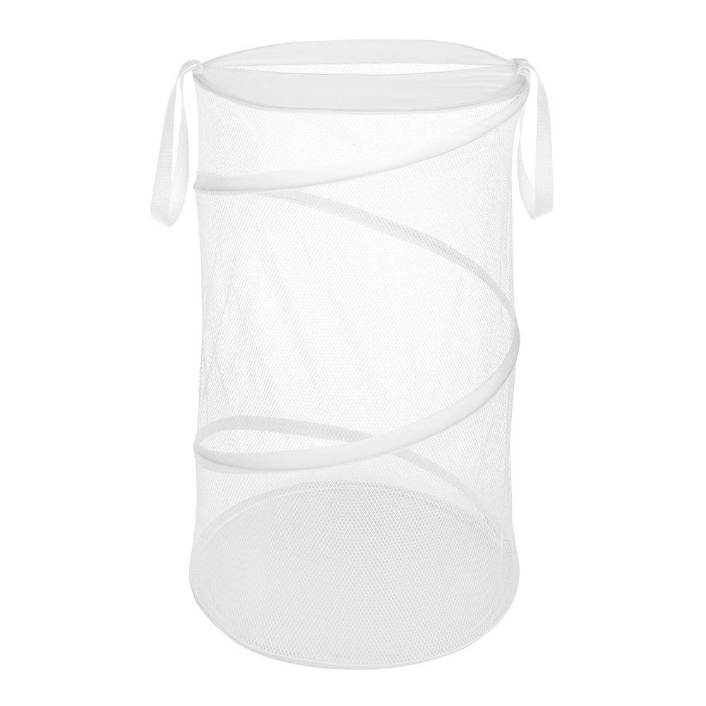 Whitmor white collapsible laundry hamper 6233 1170 w pdq the home depot - Collapsible clothes hamper ...