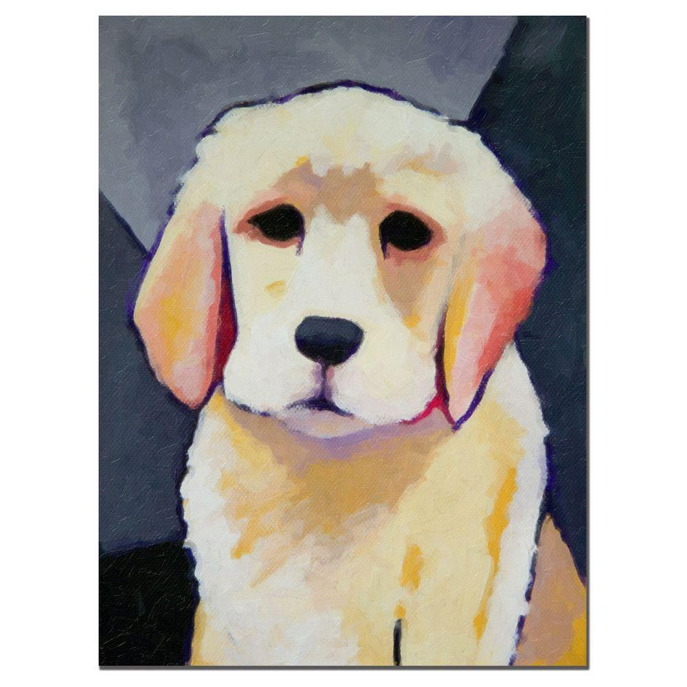 Trademark Fine Art 35 in. x 47 in. Puppy Dog Canvas