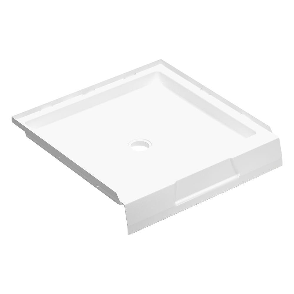 null Firenze 36 in. x 36 in. Single Threshold Shower Base in White