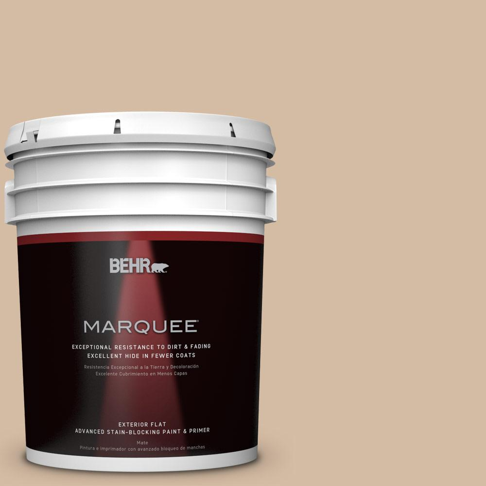 BEHR MARQUEE 5-gal. #N270-3 Coco Flat Exterior Paint-445405 - The Home