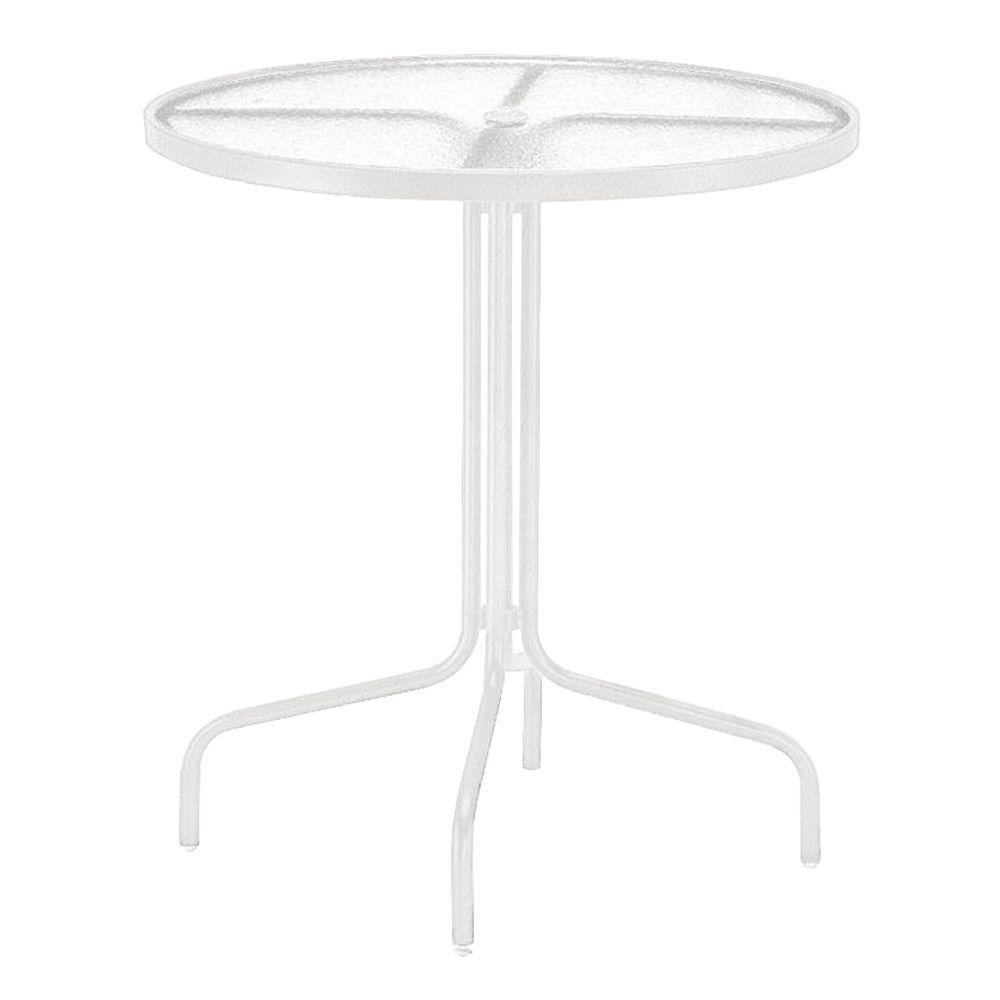 Tradewinds White 36 in. Acrylic Top Commercial Patio Bar Table