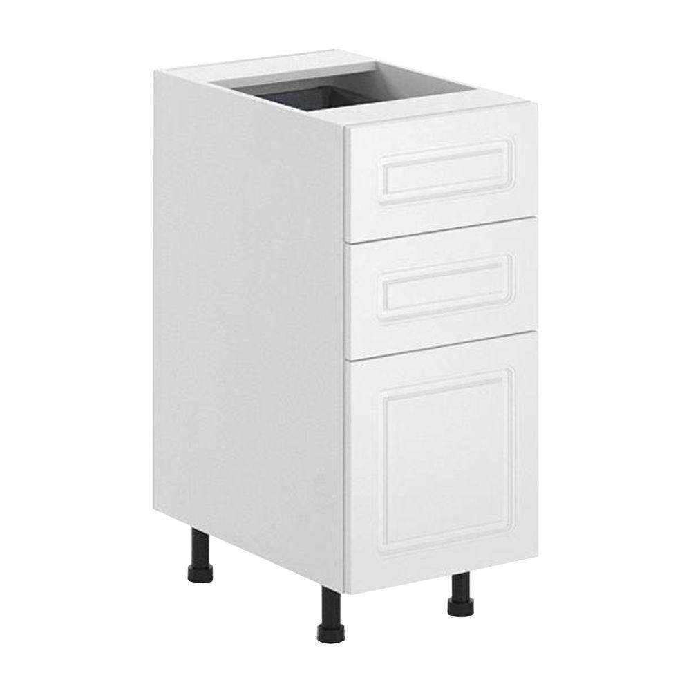 Fabritec Ready to Assemble 15x34.5x24.5 in. Lausanne 3-Drawer Base Cabinet in