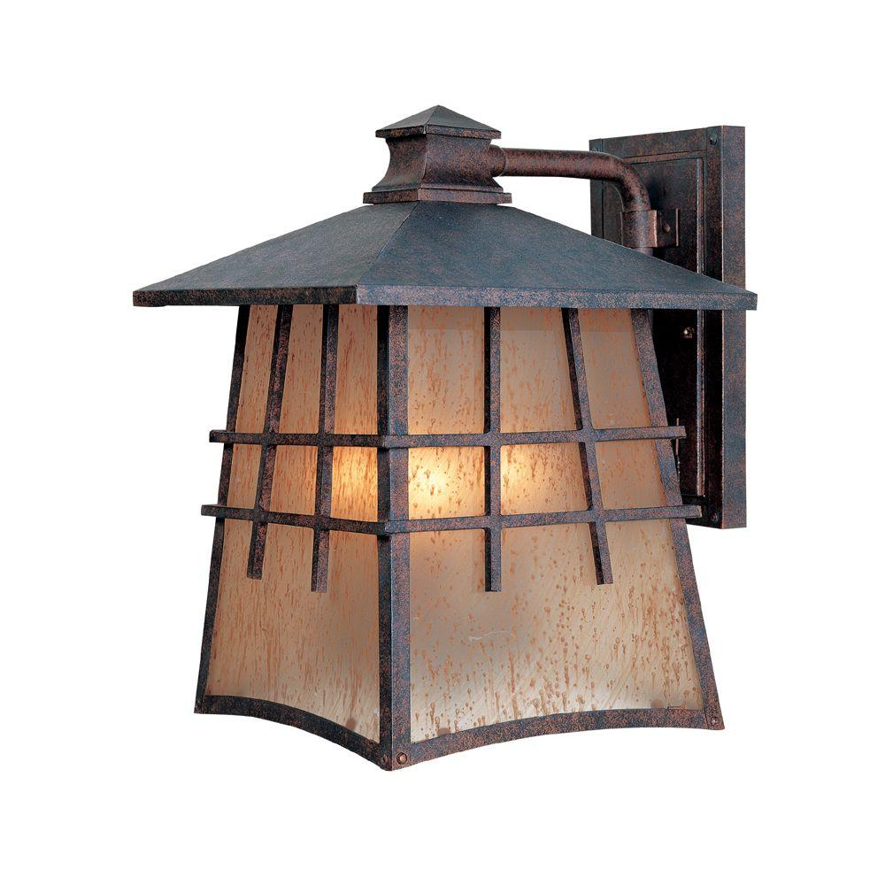 Oak Park 3-Light Mediterranean Patina Outdoor Incandescent Wall Lantern