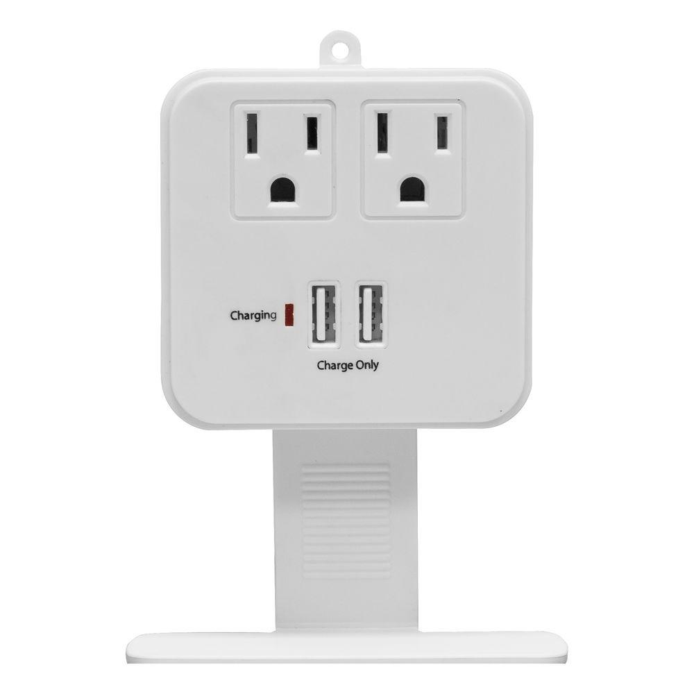GE 2-Outlet USB Charging Surge Protector