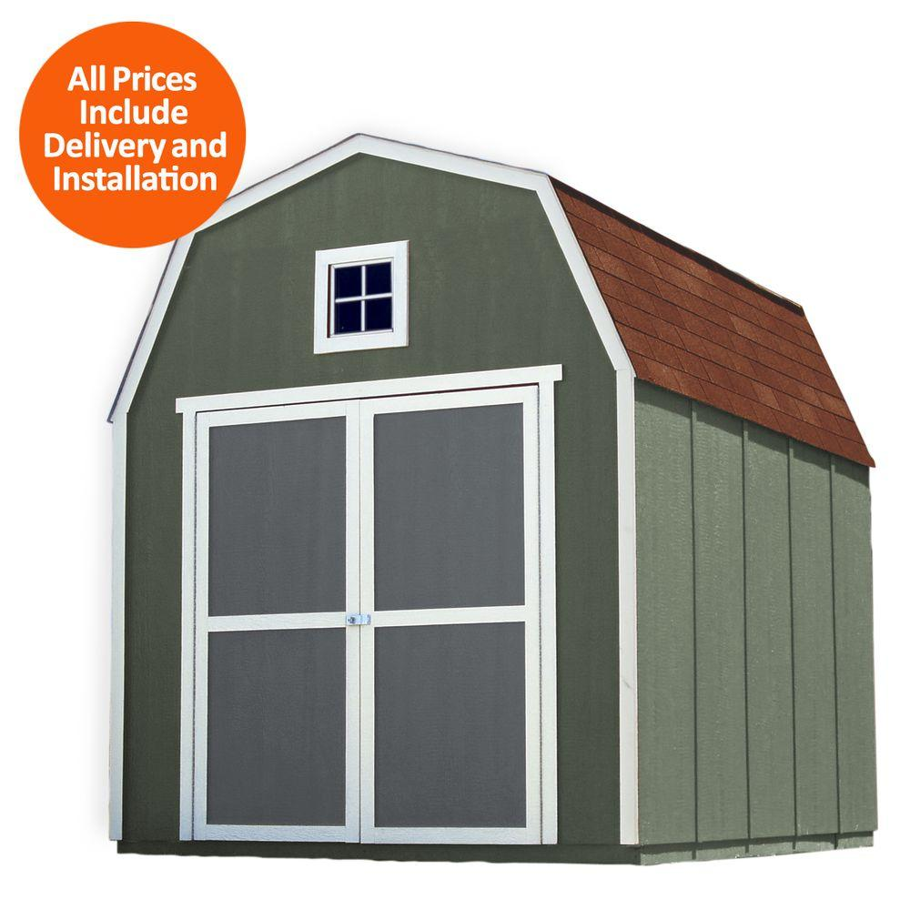 Installed Montana 8 ft. x 10 ft. Wood Storage Shed with